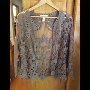 Indigo Thread Co. Crochet and Lace Cardigan